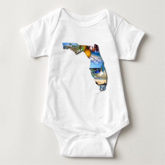 FLORIDA - THE SUNSHINE STATE BABY BODYSUIT