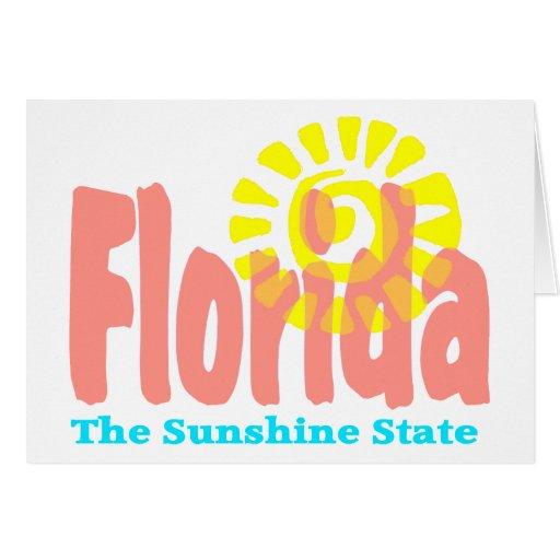 Good Day Sunshine Old Florida Village : Florida the sunshine state card zazzle
