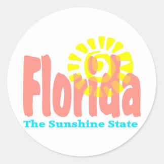 Florida The Sunshine State Classic Round Sticker