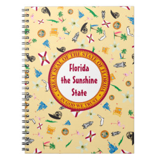 Florida the sunshine state famous items spiral notebook