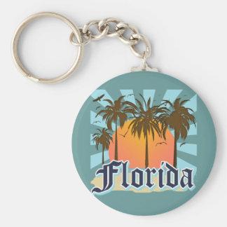 Florida The Sunshine State USA Basic Round Button Keychain