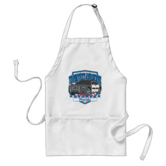 Florida To Protect and Serve Police Car Adult Apron