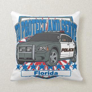 Florida To Protect and Serve Police Car Throw Pillow