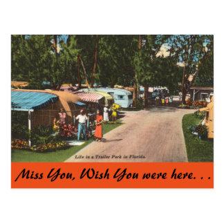 Florida, Trailer Park Postcard