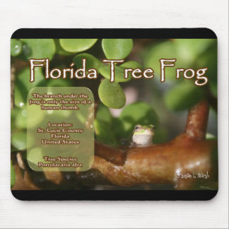 Florida Tree Frog Design with explanation text Mouse Pad