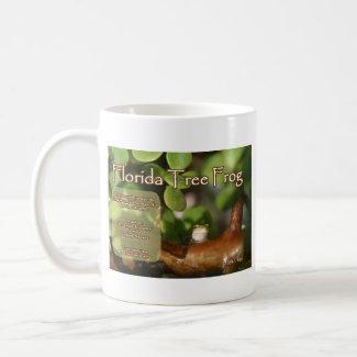 Florida Tree Frog Design with explanation text mug