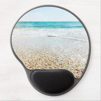 Florida Tropical Beach Sand Ocean Waves Sea Shells Gel Mouse Pad