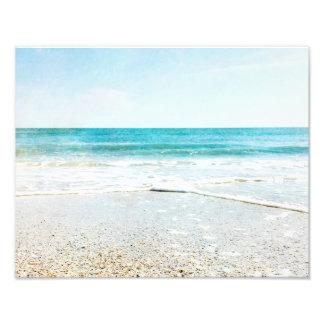 Florida Tropical Beach Sand Ocean Waves Sea Shells Photo Print