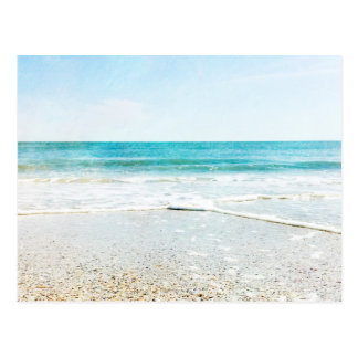 Florida Tropical Beach Sand Ocean Waves Sea Shells Postcard