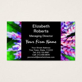 Florida Tropical Garden Blue Bromeliad Aechmea Business Card