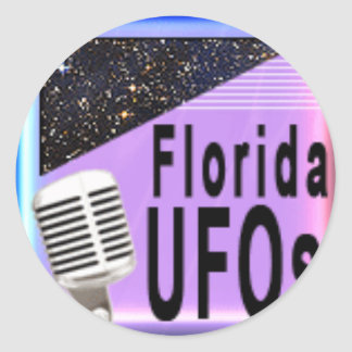 Florida UFO Radio Products Round Stickers