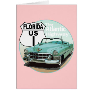 Florida US Route 1 - The Atlantic Highway Greeting Card