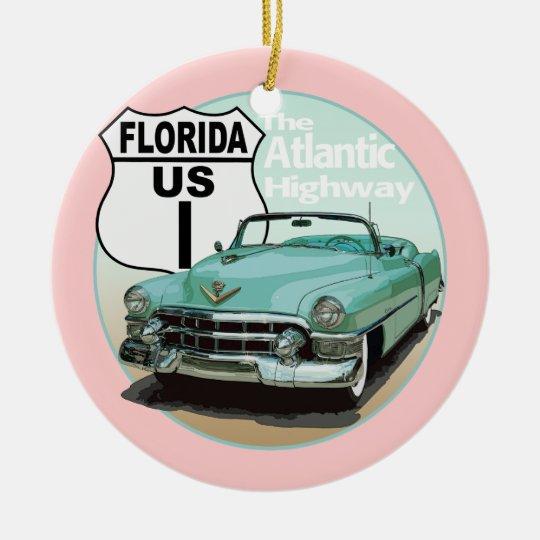 Florida US Route 1 - The Atlantic Highway Ceramic Ornament