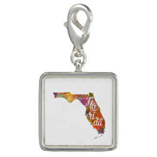 Florida US State in watercolor text cut out 2 Dijes