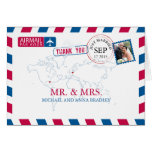 FLORIDA USA & GERMANY Airmail Wedding Thank You Stationery Note Card