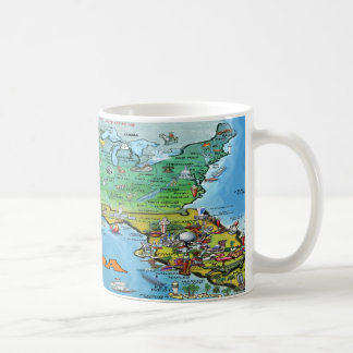 Florida USA Map Classic White Coffee Mug