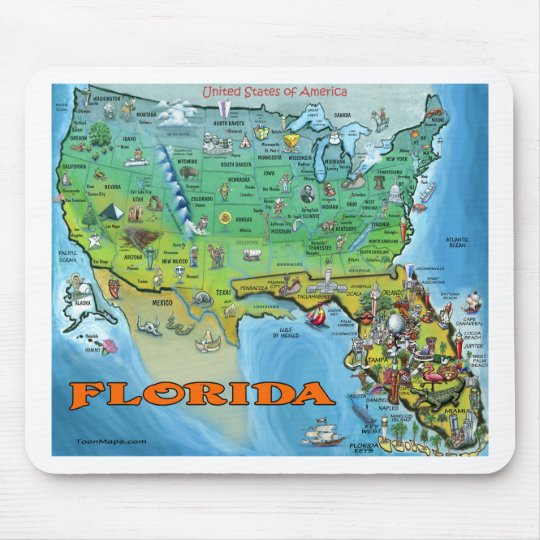 Florida USA Map Mouse Pad