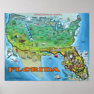 Florida USA Map Poster