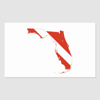 Florida USA silhouette diving flag state map Rectangular Sticker
