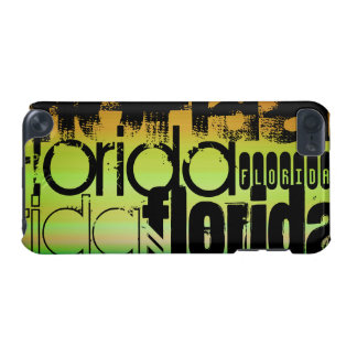 Florida; Vibrant Green, Orange, & Yellow iPod Touch (5th Generation) Cases