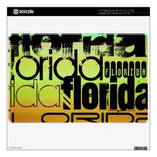 Florida; Vibrant Green, Orange, & Yellow Decal For The MacBook Air