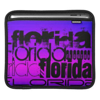Florida; Vibrant Violet Blue and Magenta iPad Sleeve