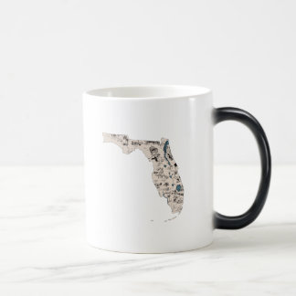 Florida Vintage Picture Map Magic Mug