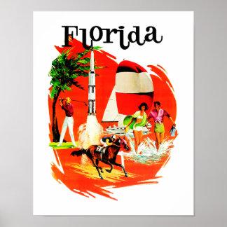 Florida Vintage Travel Poster