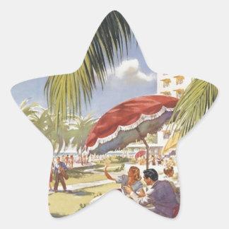 Florida Vintage Travel Star Sticker