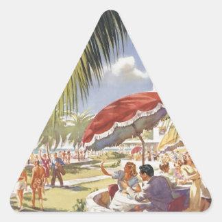 Florida Vintage Travel Triangle Sticker