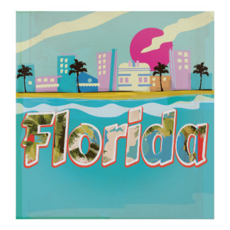 Florida Vintage vacation Poster
