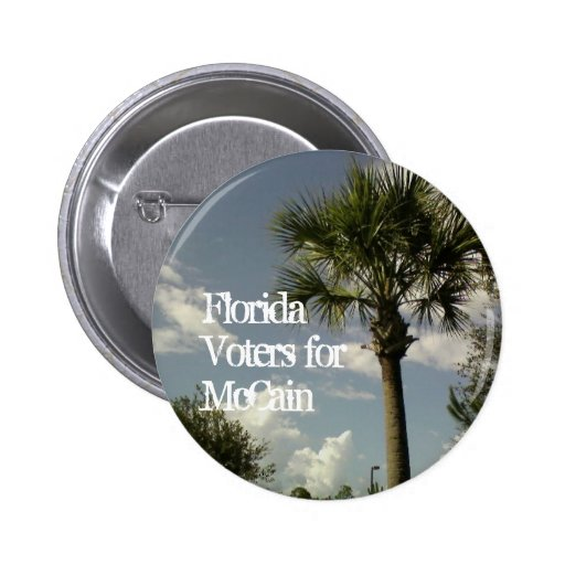 Florida Voters for McCain Button