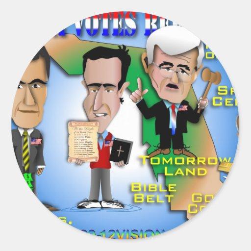 Florida Votes 4 Republicans Stickers