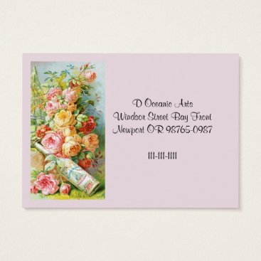 USA Themed Florida Water Cologne with Cabbage Roses Business Card