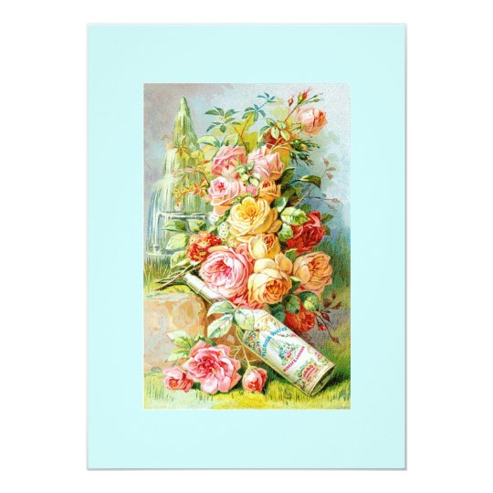 Florida Water Perfume Label with Cabbage Roses Card