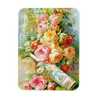 Florida Water Perfume Label with Cabbage Roses Magnet