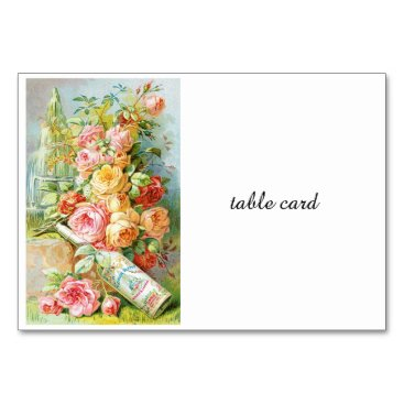 USA Themed Florida Water Perfume with Cabbage Roses Card