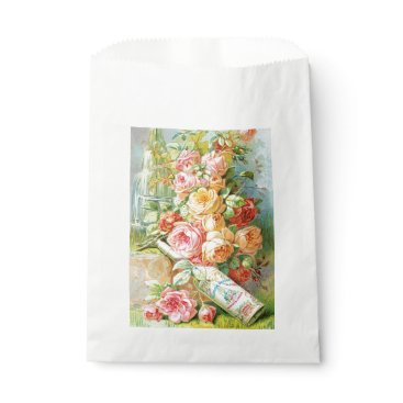 USA Themed Florida Water Perfume with Cabbage Roses Favor Bag