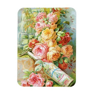 USA Themed Florida Water Perfume with Cabbage Roses Magnet