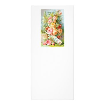 USA Themed Florida Water Perfume with Cabbage Roses Rack Card