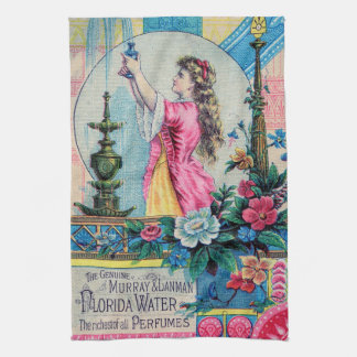 Florida water vintage perfume ad victorian deco kitchen towels
