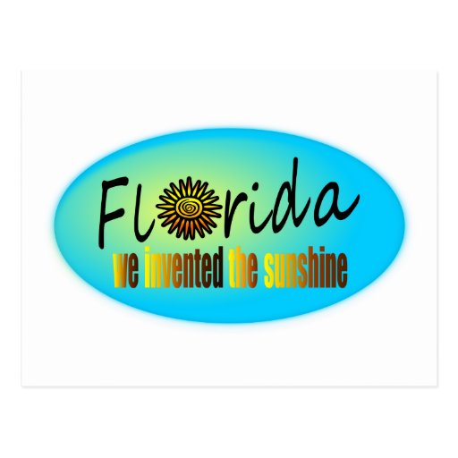 Florida - We Invented The Sunshine, With Big Sun Postcard