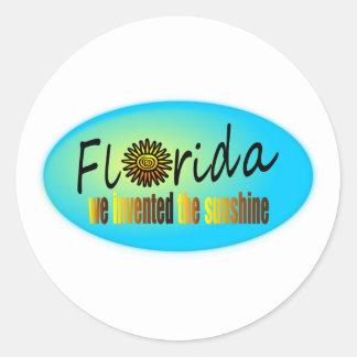 Florida - We Invented The Sunshine, With Big Sun Round Sticker