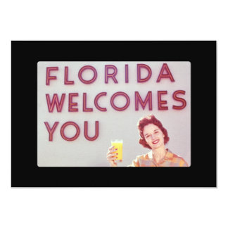 Florida Welcomes You Breakfast Card