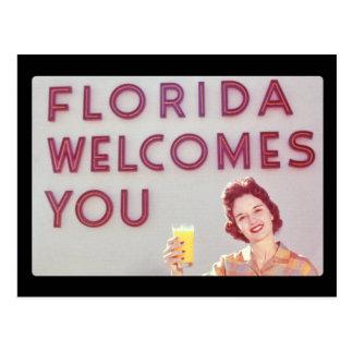 Florida Welcomes You Postcard