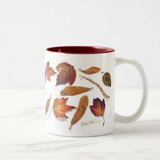 Florida wetand leaves Two-Tone coffee mug