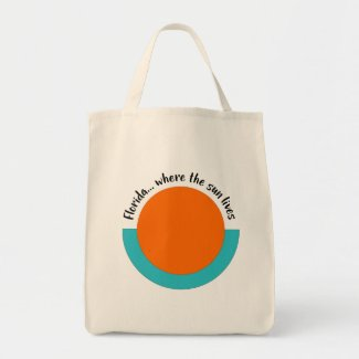 Florida...Where the Sun Lives Icon Grocery Tote Bag