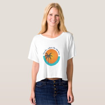 Beach Themed Florida... Where the Sun Lives T-shirt