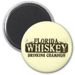 Florida Whiskey Drinking Champion Fridge Magnets
