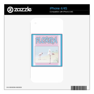 Florida White Flamingos Decals For iPhone 4